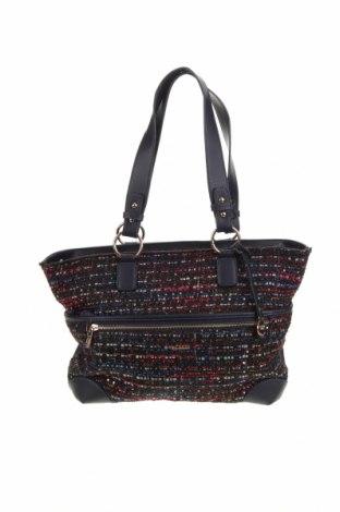 Дамска чанта L.Credi, Цвят Син, Текстил, еко кожа, Цена 19,11лв.