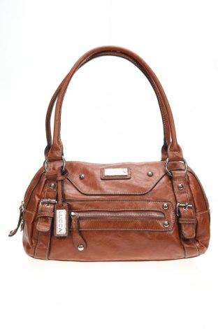 Дамска чанта LUCCA, Цвят Кафяв, Еко кожа, Цена 42,53лв.