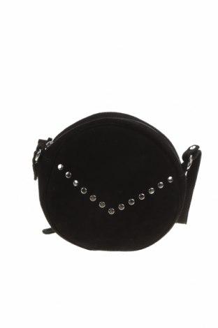 Дамска чанта Lascana, Цвят Черен, Естествен велур, Цена 81,75лв.