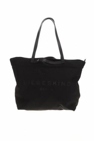 Дамска чанта Liebeskind, Цвят Черен, Текстил, естествена кожа, Цена 134,25лв.