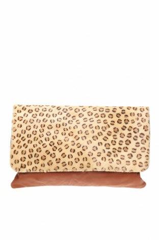 Дамска чанта MANZONI, Цвят Кафяв, Естествена кожа, естествен косъм, Цена 58,28лв.
