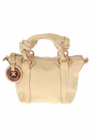 Дамска чанта Mimco, Цвят Екрю, Естествена кожа, Цена 58,80лв.