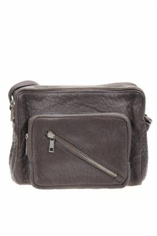 Дамска чанта Mint Velvet, Цвят Сив, Естествена кожа, Цена 50,87лв.