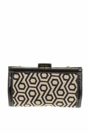 Дамска чанта Nine West, Цвят Черен, Текстил, еко кожа, Цена 54,34лв.