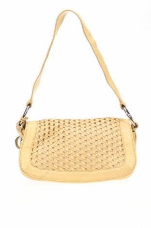 Дамска чанта Oroton, Цвят Жълт, Естествена кожа, Цена 35,49лв.