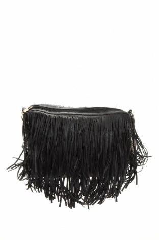 Дамска чанта Rubi, Цвят Черен, Еко кожа, текстил, Цена 16,80лв.