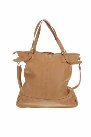 Дамска чанта Sussan, Цвят Бежов, Еко кожа, Цена 33,60лв.