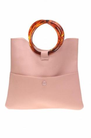 Дамска чанта Topshop, Цвят Розов, Еко кожа, Цена 19,85лв.