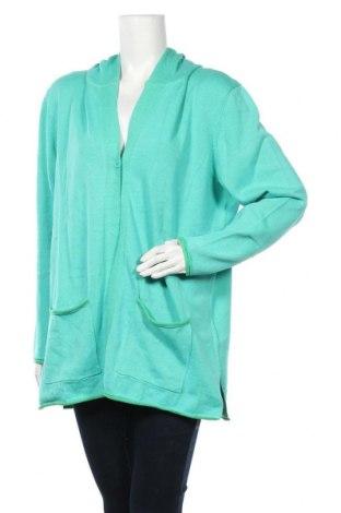 Дамска жилетка Aniston, Размер XL, Цвят Зелен, Памук, Цена 30,80лв.