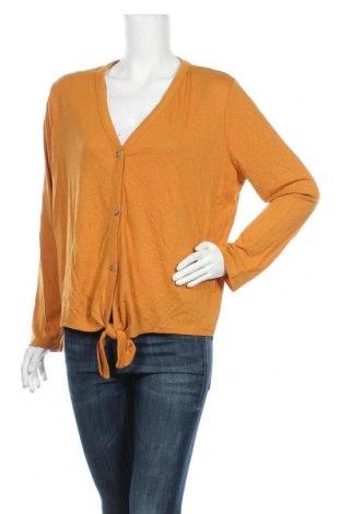 Дамска жилетка Anko, Размер XL, Цвят Жълт, 55% лен, 45% полиестер, Цена 24,94лв.