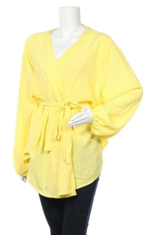 Дамска жилетка Boohoo, Размер XXL, Цвят Жълт, Полиестер, Цена 13,97лв.