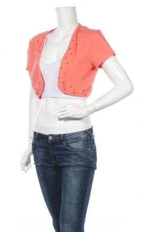 Дамска жилетка Cleo, Размер M, Цвят Оранжев, 95% памук, 5% еластан, Цена 6,96лв.