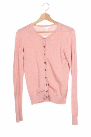Дамска жилетка H&M, Размер XS, Цвят Розов, 70% вискоза, 30% полиамид, Цена 16,64лв.