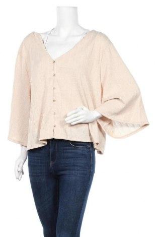 Дамска жилетка H&M, Размер 3XL, Цвят Бежов, Полиестер, Цена 14,70лв.