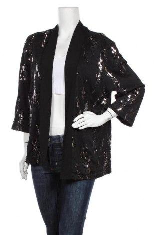 Дамска жилетка Liz Jordan, Размер XL, Цвят Черен, 96% полиестер, 4% еластан, Цена 11,76лв.