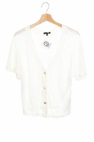 Дамска жилетка Massimo Dutti, Размер XS, Цвят Бял, 100% лен, Цена 61,50лв.