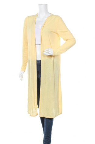 Дамска жилетка Miss Valley, Размер XL, Цвят Жълт, 60% полиестер, 35% вискоза, 5% еластан, Цена 41,16лв.