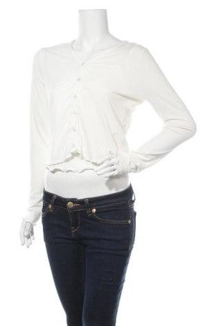 Дамска жилетка New Look, Размер L, Цвят Бял, 65% полиестер, 33% вискоза, 2% еластан, Цена 13,44лв.