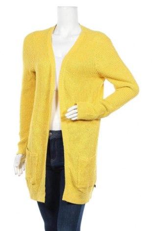 Дамска жилетка Q/S by S.Oliver, Размер XS, Цвят Жълт, 55% памук, 25% вискоза, 20% полиамид, Цена 37,20лв.