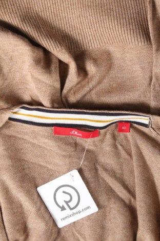 Дамска жилетка S.Oliver, Размер L, Цвят Бежов, 60% вискоза, 40% памук, Цена 32,86лв.