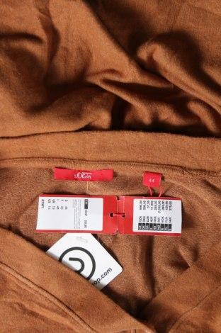 Дамска жилетка S.Oliver, Размер XL, Цвят Кафяв, 78% вискоза, 17% полиестер, 5% еластан, Цена 28,60лв.