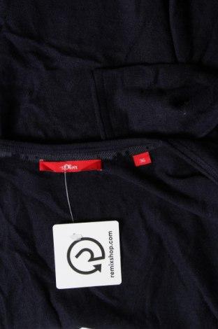 Дамска жилетка S.Oliver, Размер S, Цвят Син, 45% вискоза, 30% полиамид, 20% памук, 5% вълна, Цена 38,16лв.