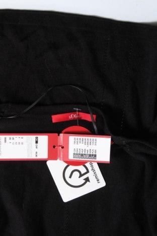 Дамска жилетка S.Oliver, Размер M, Цвят Черен, 60% вискоза, 40% памук, Цена 35,40лв.