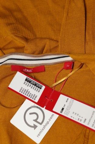Дамска жилетка S.Oliver, Размер XS, Цвят Жълт, 60% вискоза, 40% памук, Цена 34,50лв.