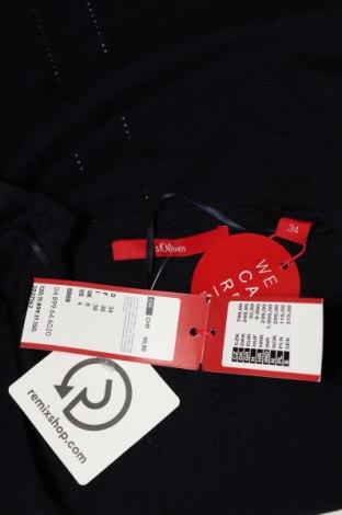 Дамска жилетка S.Oliver, Размер XS, Цвят Син, 60% вискоза, 40% памук, Цена 38,35лв.