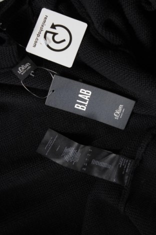Дамска жилетка S.Oliver, Размер L, Цвят Черен, 50% полиестер, 20% полиамид, 20% акрил, 10% вълна, Цена 41,40лв.