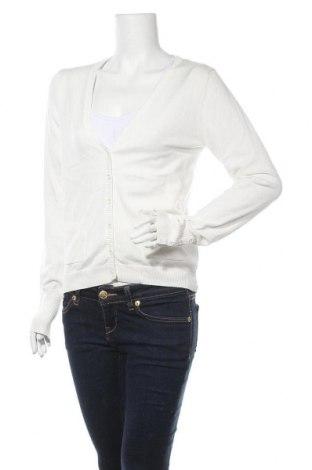 Дамска жилетка Tom Tailor, Размер L, Цвят Бял, 80% памук, 17% полиамид, 3% еластан, Цена 59,25лв.
