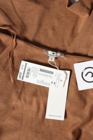 Дамска жилетка Tom Tailor, Размер L, Цвят Кафяв, 65% полиестер, 35% вискоза, Цена 20,65лв.