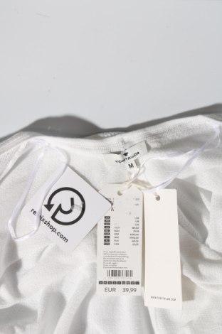 Дамска жилетка Tom Tailor, Размер M, Цвят Бял, 100% памук, Цена 41,40лв.