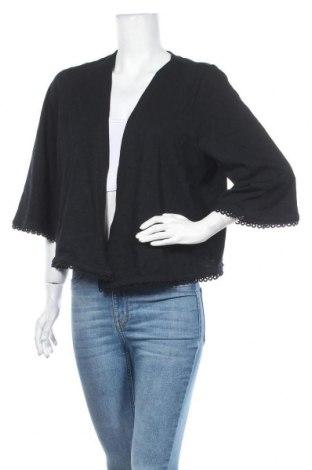 Дамска жилетка Tom Tailor, Размер XL, Цвят Черен, Памук, Цена 41,40лв.