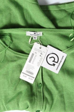 Дамска жилетка Tom Tailor, Размер XL, Цвят Зелен, 60% памук, 40% вискоза, Цена 34,50лв.
