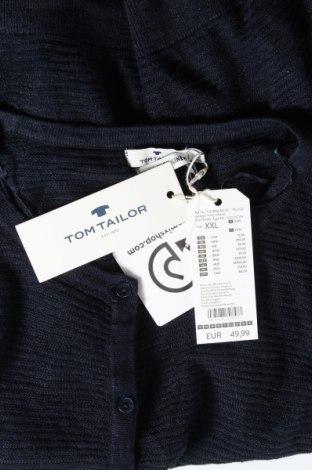 Дамска жилетка Tom Tailor, Размер XXL, Цвят Син, 55% лен, 45% вискоза, Цена 44,85лв.