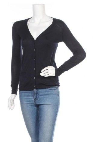 Дамска жилетка Zara, Размер S, Цвят Син, 70% коприна, 30% памук, Цена 31,50лв.