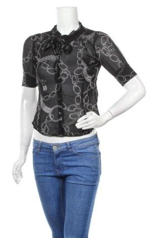 Дамска риза Atos Lombardini, Размер S, Цвят Черен, Коприна, Цена 39,00лв.