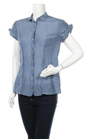 Дамска риза Boss Orange, Размер M, Цвят Син, 70% памук, 30% коприна, Цена 128,52лв.