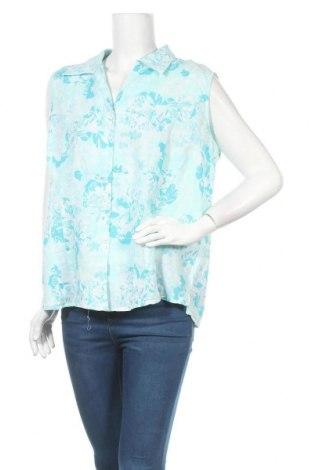Γυναικείο πουκάμισο Charles Vogele, Μέγεθος XL, Χρώμα Μπλέ, 60% λινό, 40% βαμβάκι, Τιμή 9,26€