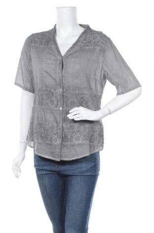 Γυναικείο πουκάμισο Charles Vogele, Μέγεθος M, Χρώμα Γκρί, Βαμβάκι, Τιμή 10,49€
