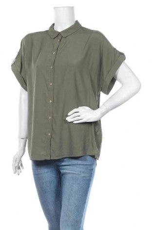 Дамска риза Free Quent, Размер XXL, Цвят Зелен, 80% вискоза, 20% полиестер, Цена 8,93лв.