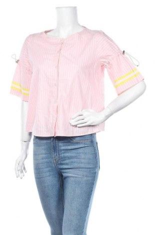 Дамска риза Hugo Boss, Размер S, Цвят Розов, Памук, Цена 90,30лв.