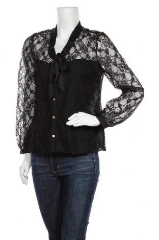 Дамска риза Lipsy London, Размер M, Цвят Черен, Полиестер, Цена 33,12лв.