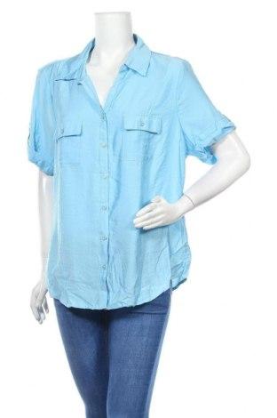 Дамска риза Noni B, Размер XL, Цвят Син, 80% вискоза, 20% полиамид, Цена 28,93лв.