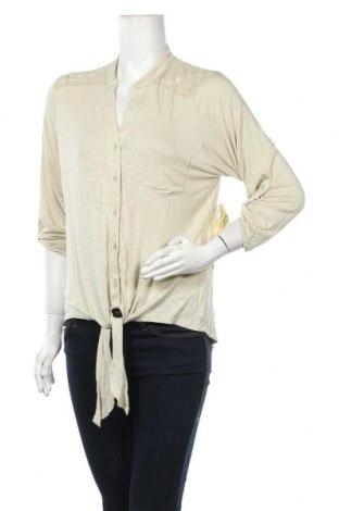 Дамска риза One World, Размер L, Цвят Бежов, 95% вискоза, 5% еластан, Цена 17,75лв.