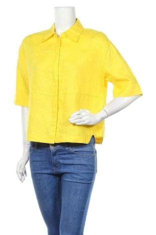 Дамска риза Opus, Размер M, Цвят Жълт, Лен, Цена 18,90лв.