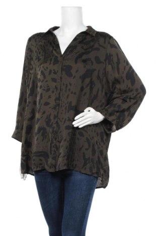 Γυναικείο πουκάμισο Suzanne Grae, Μέγεθος XL, Χρώμα Πράσινο, Πολυεστέρας, Τιμή 10,52€