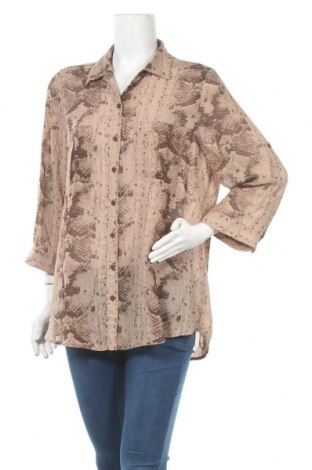 Γυναικείο πουκάμισο Suzanne Grae, Μέγεθος XL, Χρώμα Καφέ, Πολυεστέρας, Τιμή 4,09€
