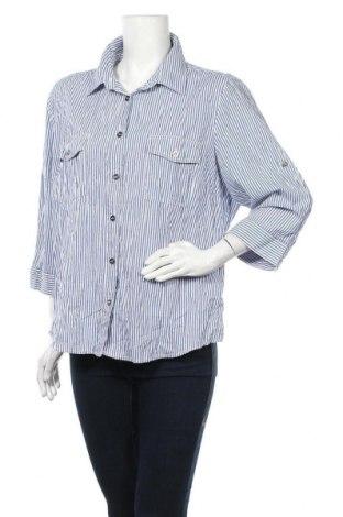Γυναικείο πουκάμισο Suzanne Grae, Μέγεθος XL, Χρώμα Μπλέ, Βαμβάκι, πολυεστέρας, ελαστάνη, Τιμή 5,26€